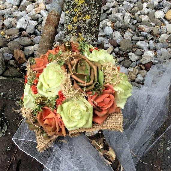 Rustic Wedding Bridal Flower Bouquet-Wedding set-Bridal flower
