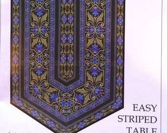 Do it yourself ruler etsy 60 degree table runner easy striped table runner pattern by karen montgomery tqc272 do solutioingenieria