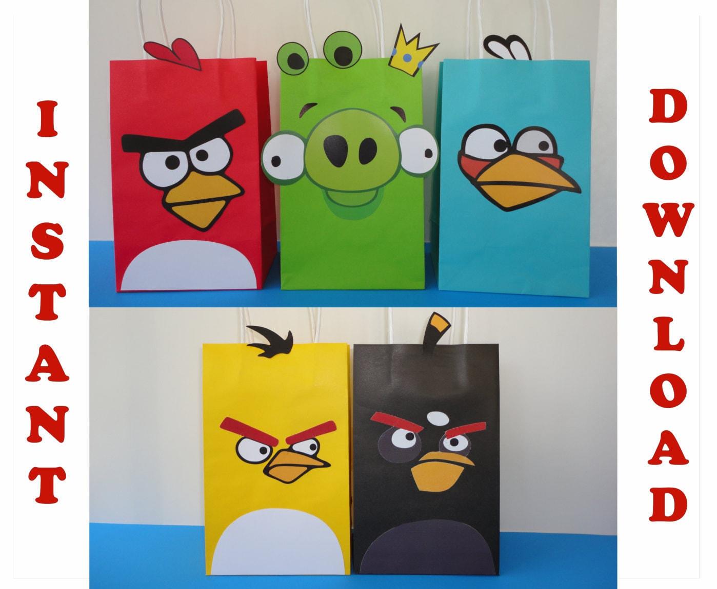 Angry Birds Favor Bags/ Angry Birds Birthday Theme / Angry