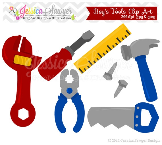 instant download building tool clipart fathers day clip art rh etsy com toolbox clipart tool clipart black and white