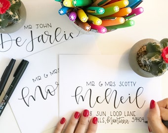 Handwritten Envelope Calligraphy