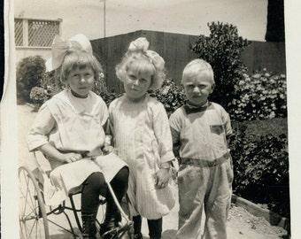 vintage photo Blondies and an Irish Mail Bike 1915