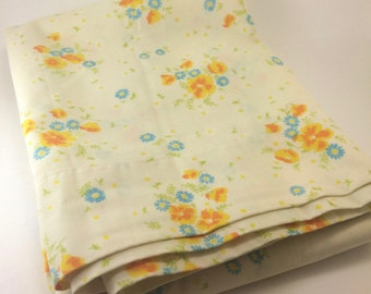 twin flat sheet small flowers wildflowers hippy decor boho style french cottage prairie