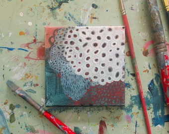 Thirteen: Small Abstract Painting