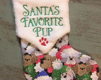 Dog Stocking. Made to order