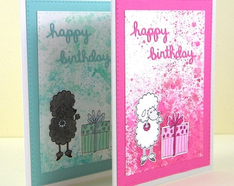 Poodle Birthday Card, Poodle Happy Birthday, Poodle Card, Dog Birthday Card