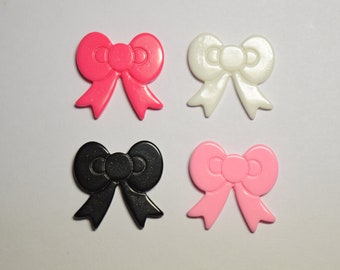 8 pc - 21mm Cute Ribbon Flatback Cabochon for Scrapbooking, DIY Projects, Cellphones, Crafts