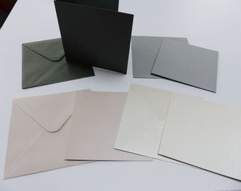 8 card double and wrap with 4 metal effect dark grey gray black and white colors