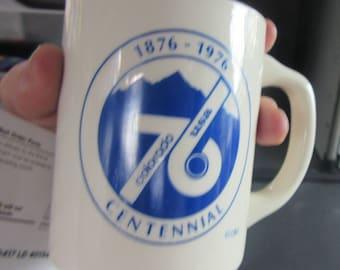 colorado centennial mug 1876 1976 or little america mug wyoming
