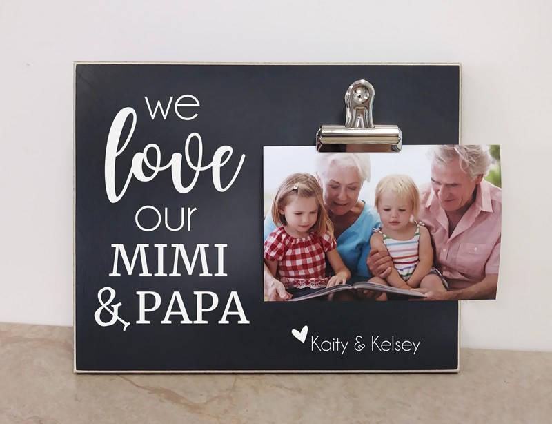 Personalisiertes Geschenk für Großeltern Enkel Bilderrahmen