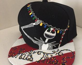 Nightmare Before Christmas Jack Skellington snapback hat