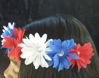 Patriotic Flower Crown (ON SALE)