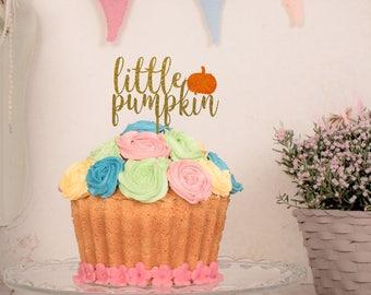 Little Pumpkin Cake Topper, Fall Baby Shower, Autumn Baby Shower , Gender Neutral Baby Decor, Baby Sprinkle, Gender Reveal, Boy or Girl