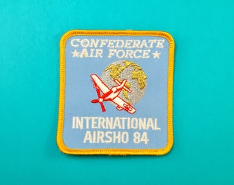 Vintage 1984 CONFEDERATE AIR FORCE International Airsho Sew-on Patch