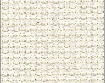 Aida Cloth 14 Count Cross Stitch Fabric - Light Cream Colour - Single Piece 24cm x 62cm