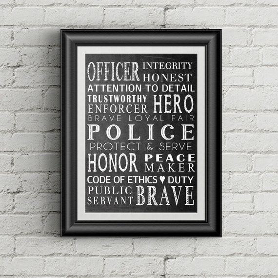 Police Officer Gift Law Enforcement Officer Gift Police Wall