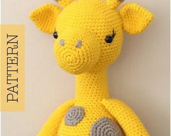 Crochet Amigurumi Giraffe PATTERN ONLY, Graceful Gemma Giraffe, pdf Amigurumi Stuffed Toy Pattern