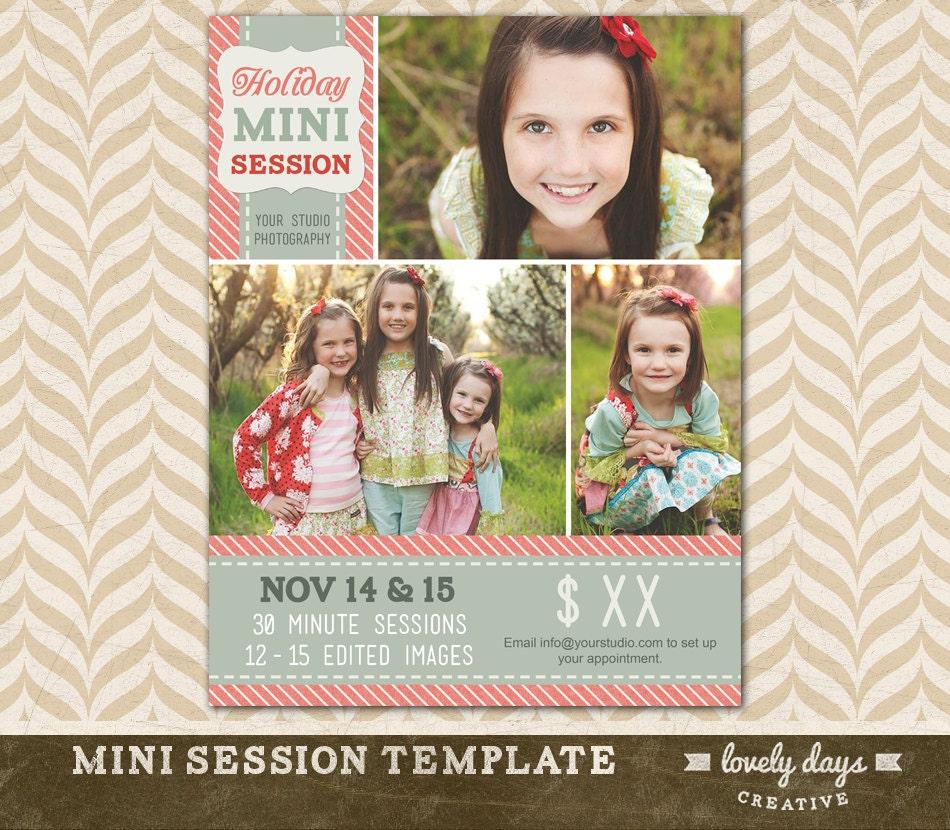 Christmas Mini Session Template Holiday Blog Board For - Mini session templates