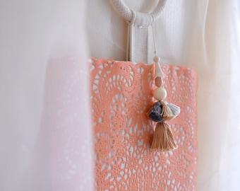 Bonjour, sac en février poignée supérieure, couleur corail d'été style petit sac à main, style119B