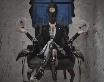Unlocking Wonderland - LIMITED EDITION, Matted Print, Surreal, Whimsical, Fine Art Photography