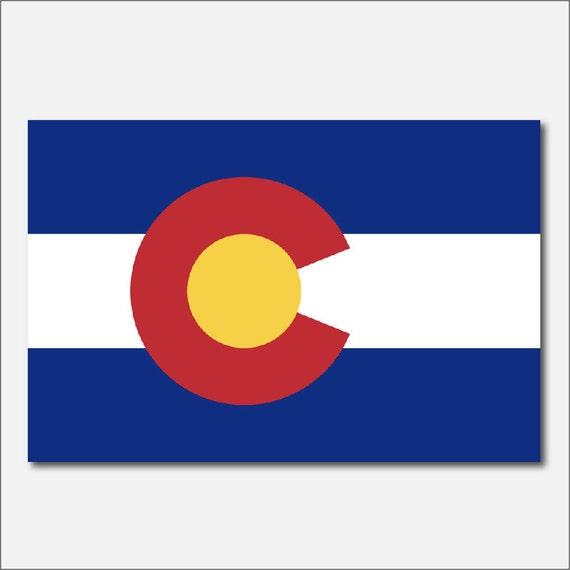 Colorado flag vinyl decal car sticker truck window laptop