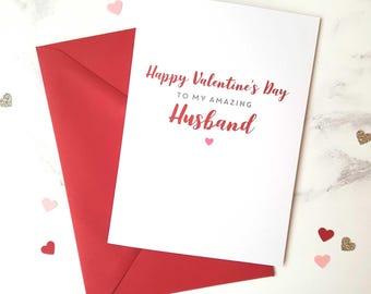 Valentine's Day Husband Card