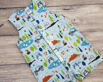 Jeep® Woven Romper / J is for Jeep® / 12 month / 24 month / 2t / Snap Front Romper / Toddler Romper / Truck Romper