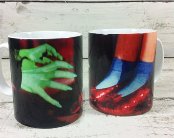 Wicked Witch of the West & Dorothy with Red Ruby Slippers Wizard Of Oz Mug Cup Gift Present