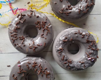 Chocolate soap, donut soap, chocolate donut soap, doughnut soaps, food soap, dessert soap, white elephant gift, gag gifts, fun gifts