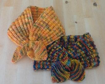 Keyhole Neckwarmers, Knitting