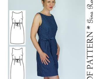 Ladies Dress Pattern - Womens Dress Sewing Pattern - Modern Dress pattern - Fitted Dress Pattern Women