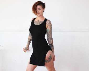 Custom 2-in-1 Bamboo Racerback Tunic Tank Dress /Any Size  /Made to Measure / 8+ Colors