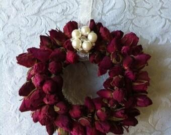 Rosebud Christmas Tree Ornament