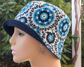 Womens Chemo Hat Cancer Cap Hat Hair Loss Hats Alopecia Hat Made in the USA SMALL  MEDIUM