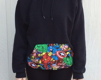 Marvel Comics, SweatShirt, Clothing, Pullover Hoodie, jacket, spider man, Thor, captain america, comic book, geekery, iron man