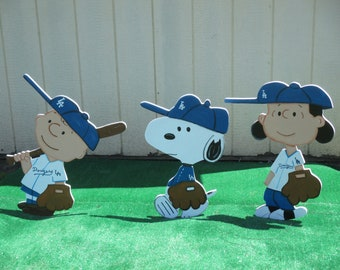 Charlie Brown, Lucy and Snoopy Baseball Yard Signs