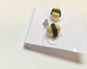 SALE- Tamago Sushi Earrings
