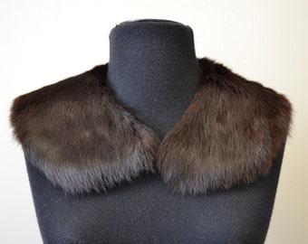 1950s Dark Brown Fur Collar