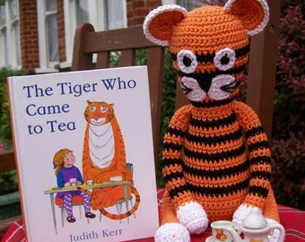 Crochet tiger, soft toy, cuddly toy, stuffed animal, crochet animal, story prop, photo prop, gifts for kids, imaginary play