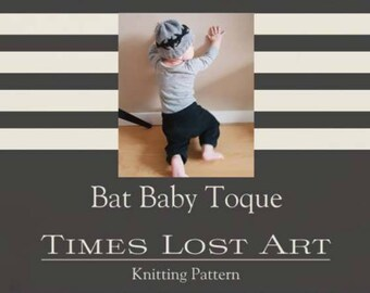Bat Baby Toque Knitting Pattern (Hard Copy)