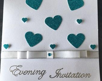 Love heart wedding invitation