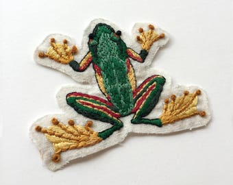 Frog sew on patch