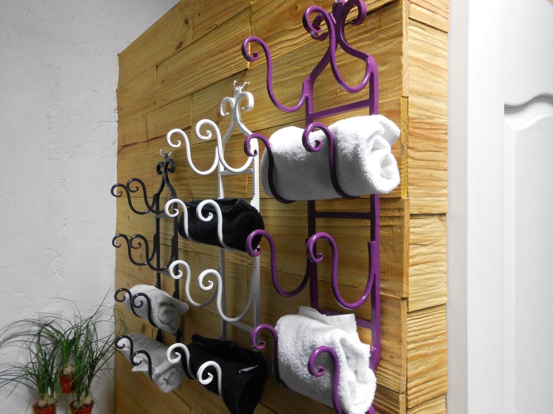 Toallero De Herrer A Fina Para Cuatro Toallas De Mano  # Muebles Hierro Forjado Herreria Artistica