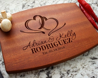Personalized Cutting Board - Engraved Cutting Board, Custom Cutting Board, Wedding Gift, Housewarming Gift, Anniversary Gift W-027 GB
