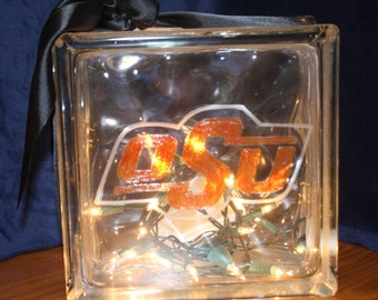 OSU Night Light Hand Etched Painted College Football Sports Special Lighting