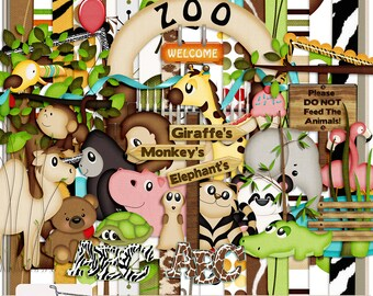 It's A Zoo In Here Digital Scrapbook Kit