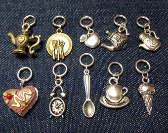 Time for Tea stitch markers/progress keepers