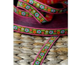 "Jacquard Ribbon Trim ""bloomenWiese""  from jolijou 1meter"