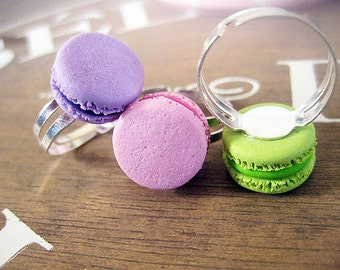 Pastel Macaroon Ring _ 1/12 Dollhouse Scale Miniature Food _ Polymer Clay _ Macaroon Collection