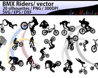 bmx rider silhouette / BMX Rider svg / bmx riders / bmx cycle / bmx rider cliparts / bmx rider vector / bike ride / SVG / EPS / Png / DXf